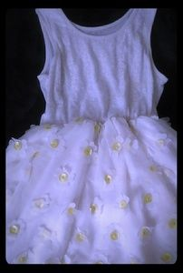Girl's Summer white and yellow dress size 14 (XL)
